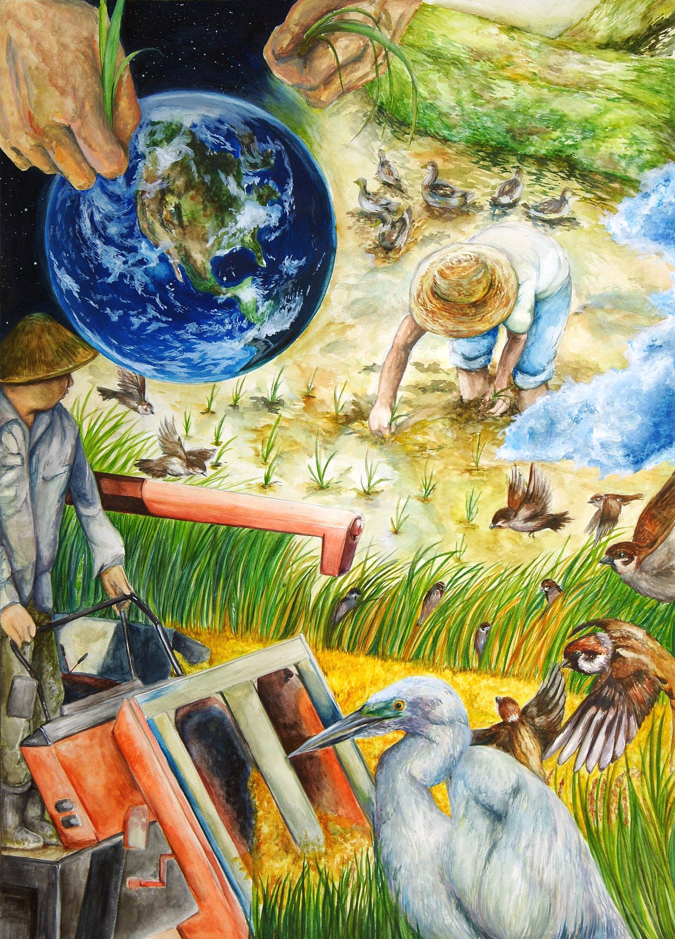 第18回全国小中学校児童・生徒環境絵画コンクール 入賞作品
